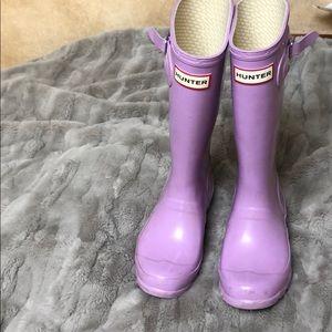 Girls Purple Hunter Boots